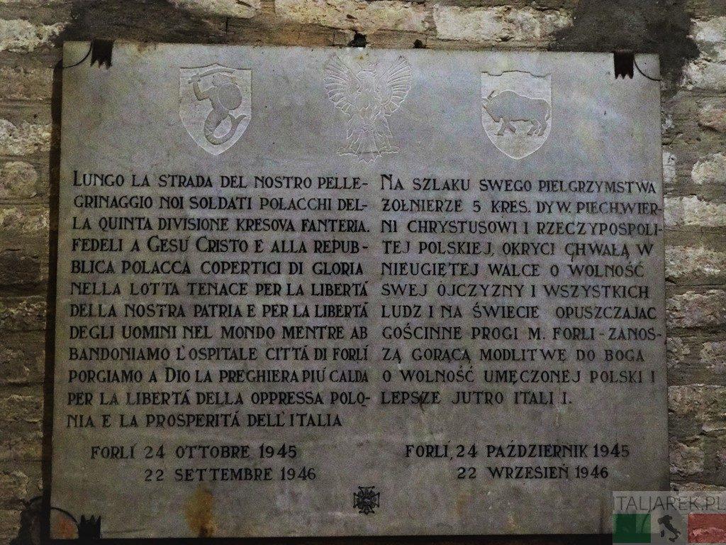Tablica pamiątkowa 5 Kresowej Dywizji Piechoty - Forli