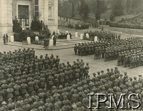 18.02.1945, Predappio, Włochy. Przysiêga 3 Brygady Strzelców Karpackich. Fot. NN, Instytut Polski i Muzeum im. gen. Sikorskiego w Londynie,  <div class=