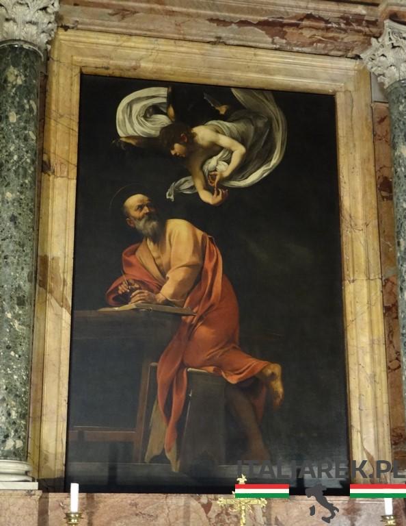 Caravaggio-św-Mateusz-piszęcy-Ewangelię