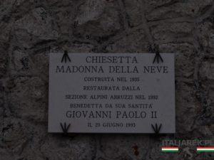 Chiesa della Madonna della Neve - tablica pamiątkowa