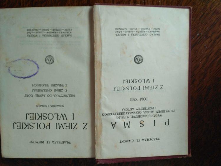 Z ziemi polskiej i włoskiej, W. St. Reymont