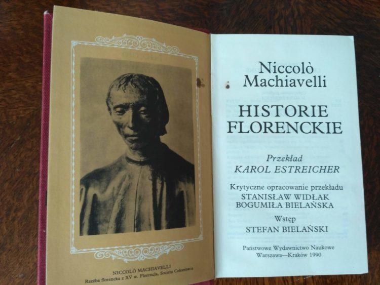 Historie florenckie, N. Machiavelli
