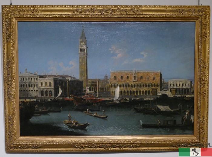 Canaletto, widok na Pałac Dożów w Wenecji - Museo Lia