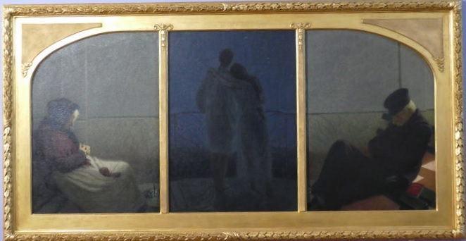 Angelo Morbelli - tryptyk Sogno a realita