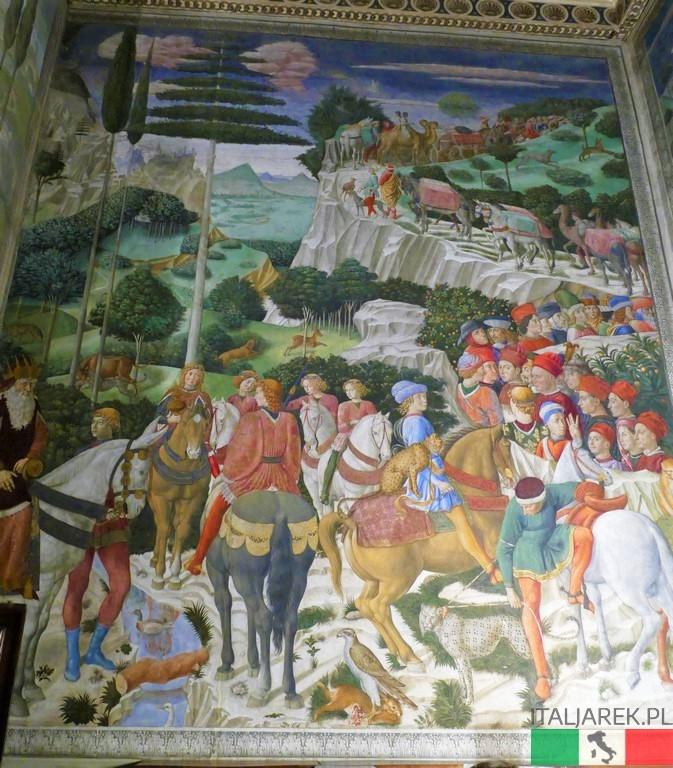 Benozzo Gozzoli: Orszak króla Melchiora (zachodnia ściana kaplicy)