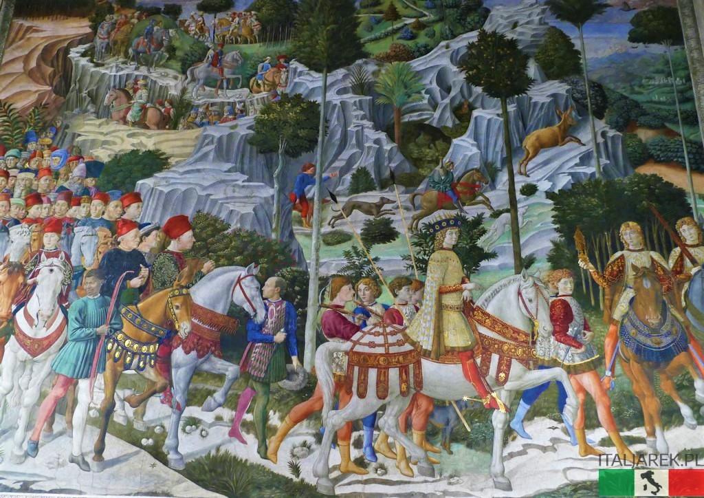 Benozzo Gozzoli, Orszak Króla Baltazara (wschodnia ściana Cappella dei Magi)