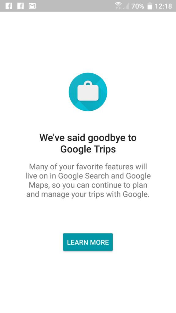 Pożegnanie z Google Trips