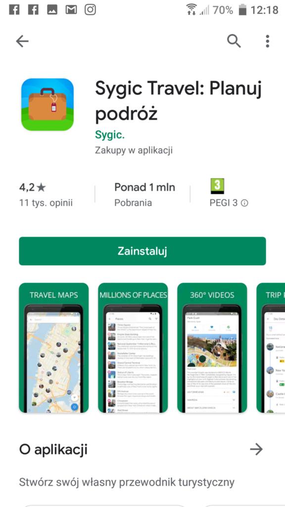 Aplikacja Sygic Travel