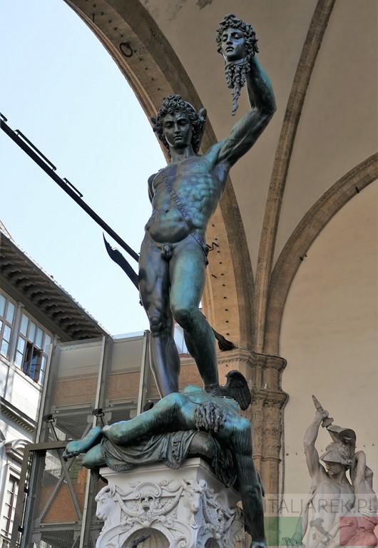 Perseusz z głową Meduzy, B. Cellini, Florencja