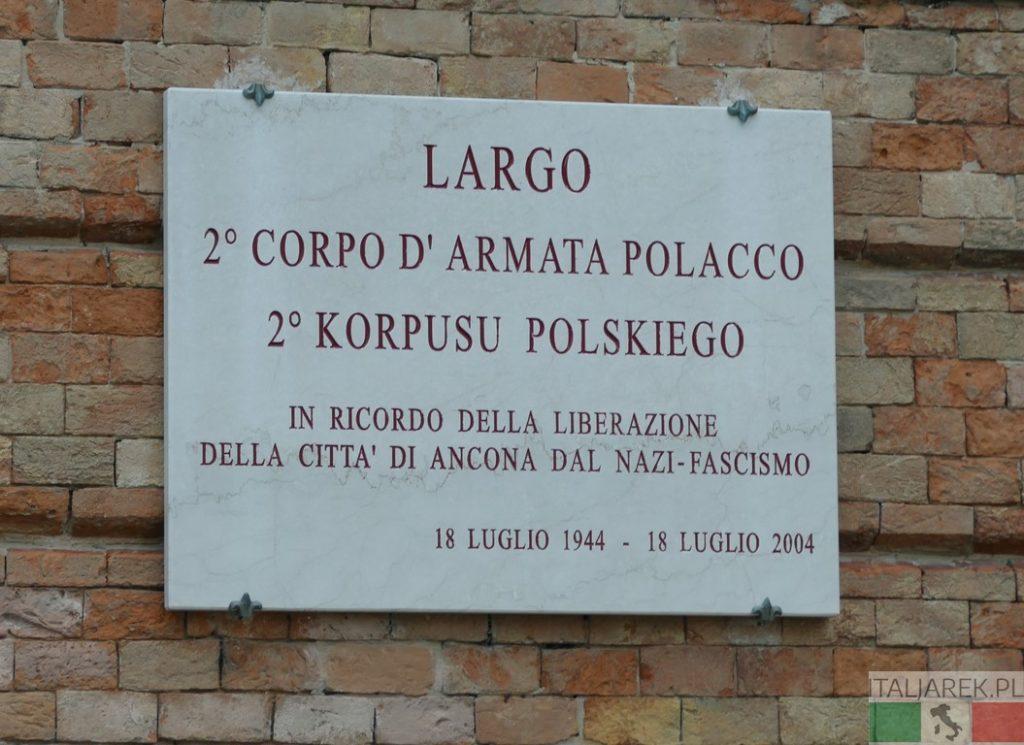 Ancona. Plac 2 Korpusu Polskiego