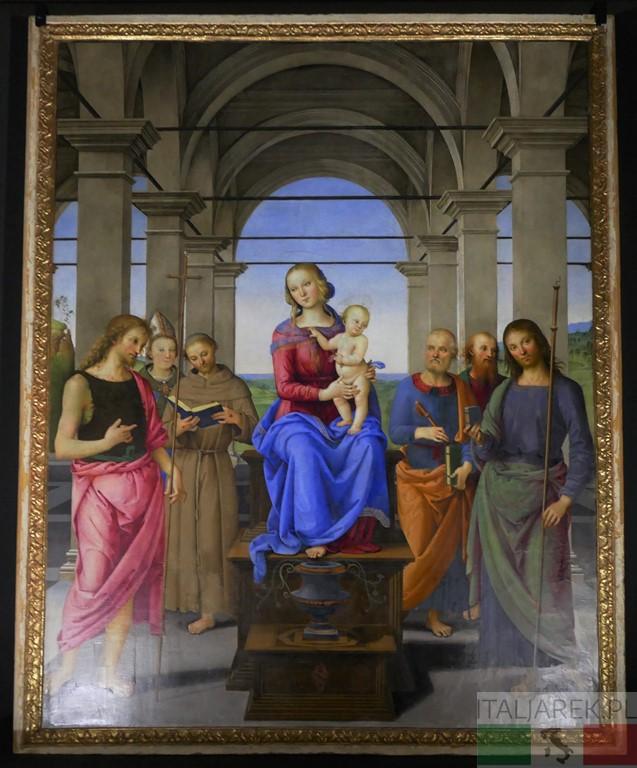 Madonna z Dzieciątkiem i świętymi, Pietro Perugino