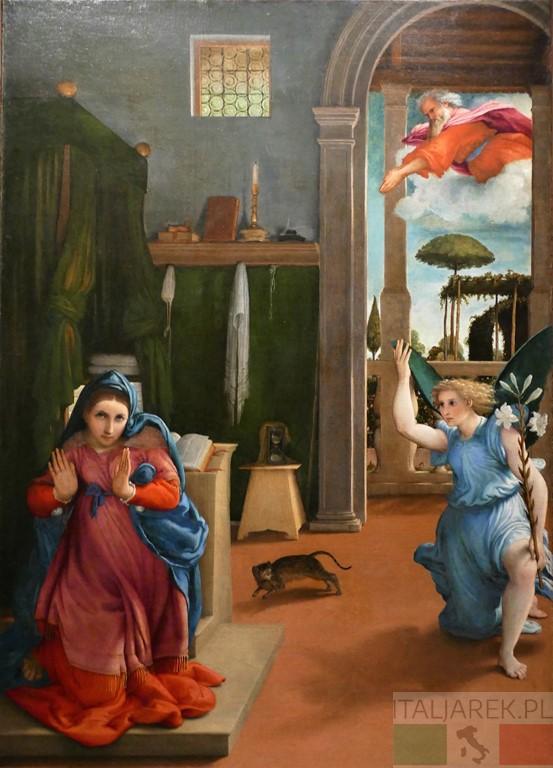 Lorenzo Lotto, Zwiastowanie, Recanati