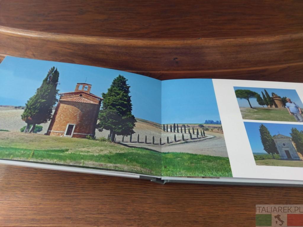 Fotoksiążka Val d'Orcia - łączenie panoramiczne stron