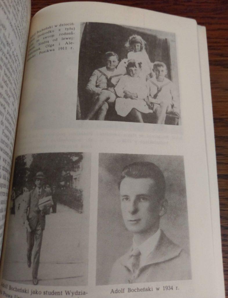 """Adolf Bocheński - z djęcie w ksiązce """"Zaczęło się w Tobruku"""""""