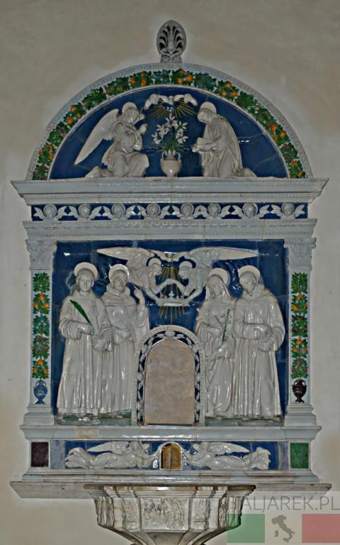 Montepulciano - Duomo, rzeźba Andrea della Robbia