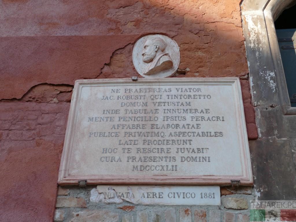 Tablica poświęcona Tintoretto