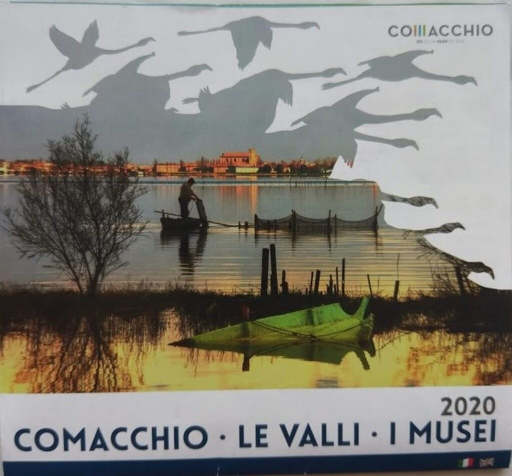 Okolice Comacchio - mapka. Flamingi