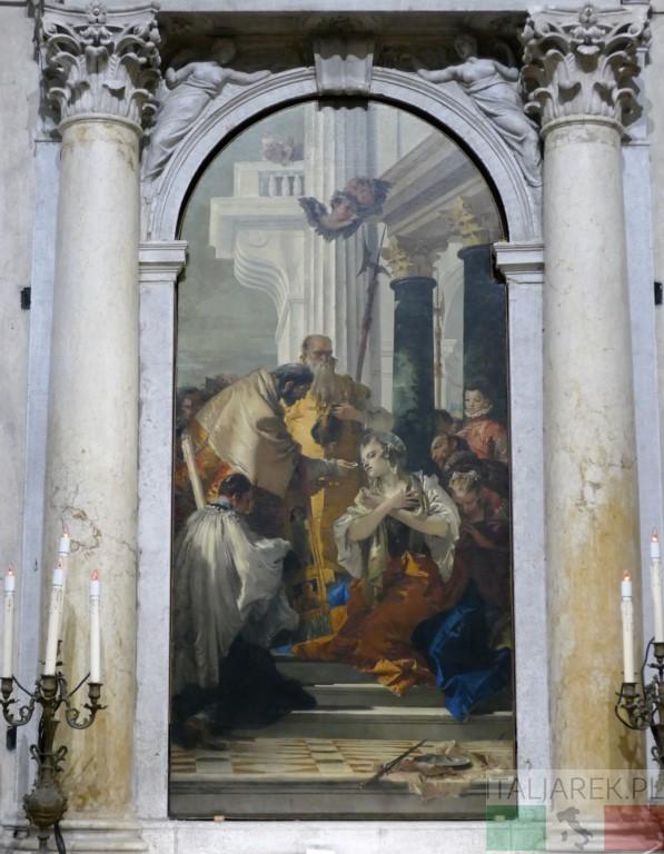 Święta Łucja - ołtarz w kościele św. Apostołów