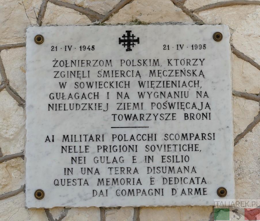 Bolonia - tablica pamiątkowa na cmentarzu