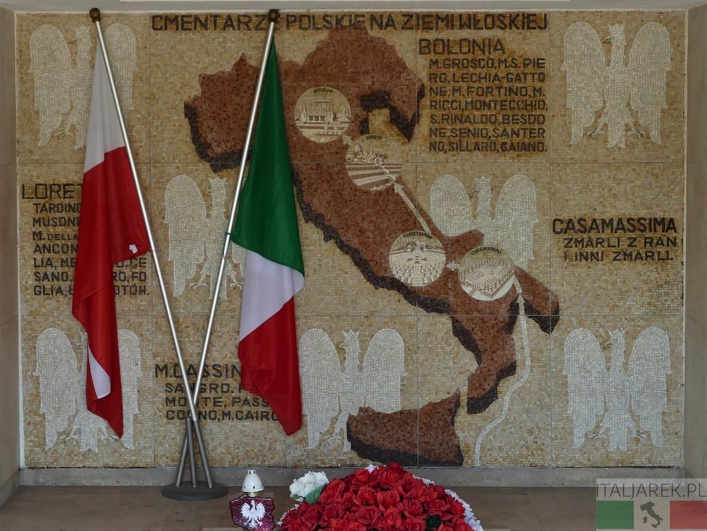 Bolonia Cmentarz Wojenny - mapa