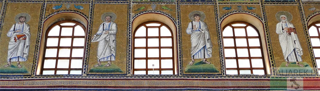 Mozaiki - pas środkowy - Sant' Apollinare