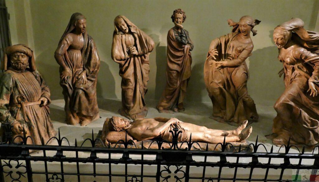 Niccolò dell'Arca – Il Compianto sul Cristo morto. Opłakiwanie Chrystusa