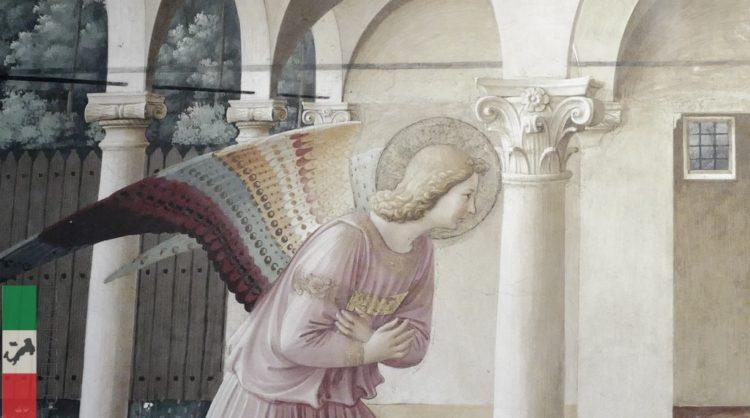 Fra Angelico - Zwiastowanie (fragment), Muzeum San Marco, Florencja