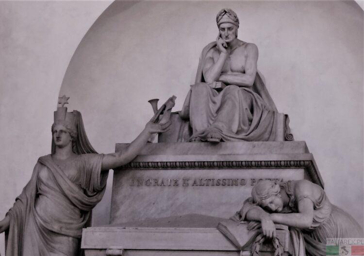 Dante - grób symboliczny - Florencja, Santa Croce